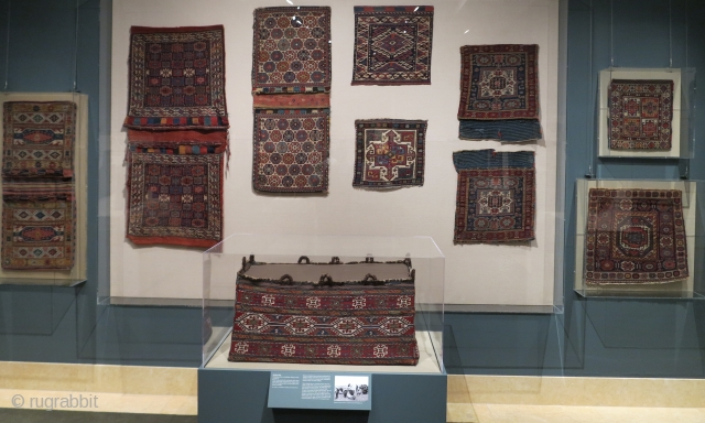 Images from the current exhibition of tribal bags, Portable Storage: Tribal Weavings from the Collection of William and Inger Ginsberg on display at the Metropolitan Museum of Art, 9/25/17-5/7/18.