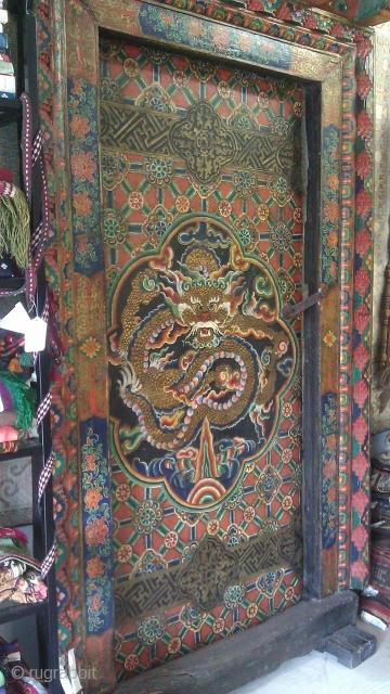 """18th Century Tibet Door size: 68"""" X 48"""""""