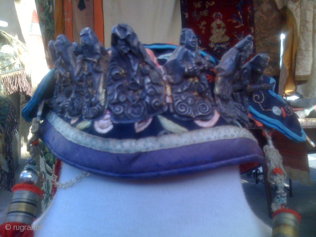 (1) OLD CHINESE HAT OR HEAD COVERING FOR CHILD WEAR FOR GOOD LUCK