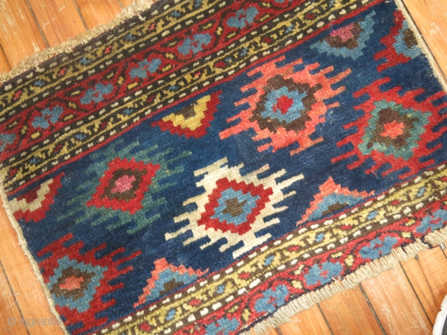 Antiqu Nw Panel Pile rug Size 1'5''x1'11''/  Probably a fragment..  Nice decorative colors.