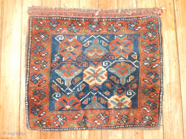 Antique Afshar Bagface.  Great condition..  Vegetable colors..  Awesome all over design.