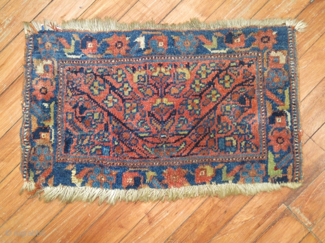 Antique Afshar Bagface.  1'8''x1' Both ends slightly missing.