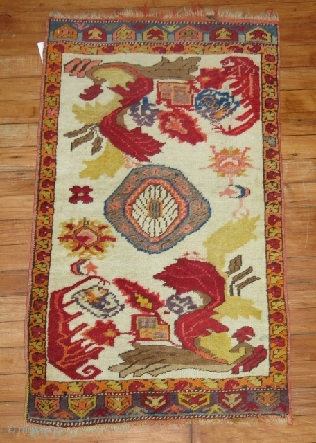 Antique Yastik Size 1'11''x3'2''.  Original kilim endings that are loose.  Other than that mint condition.  Check out our entire inventory online at www.rugsrusonline.com