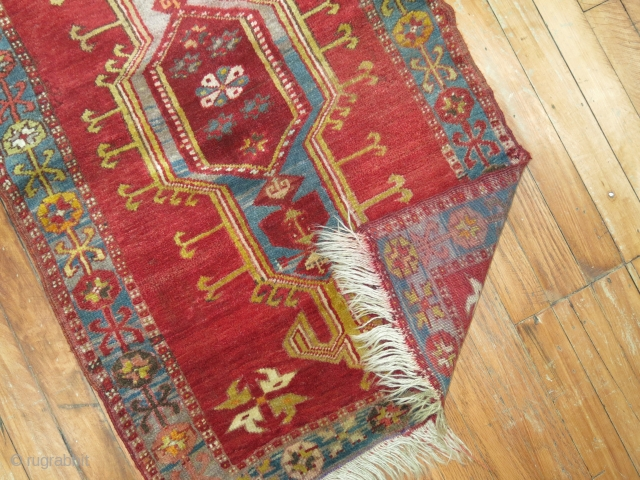 Antique Turkish Yastik Size 2'1''x3'3'' in need of a repair.