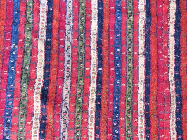 Antique Sivas shawl incredible fine work and all vegetable colors wool and wool Circa 1830