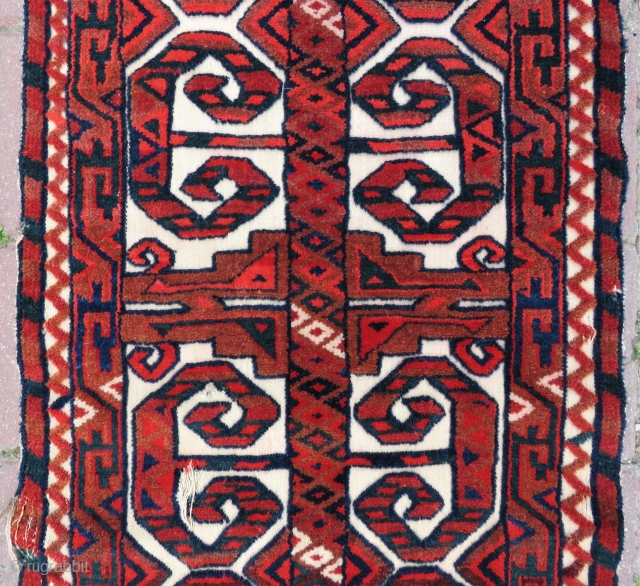 Turkoman tent bant Fragment wonderful colors size (52x16 inches) 1,34x41 cm Circa 1900