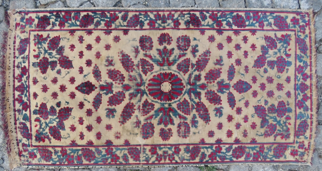 Antique Ottoman Textile wonderful colors and nice condition all original Uskudar made Circa 1880