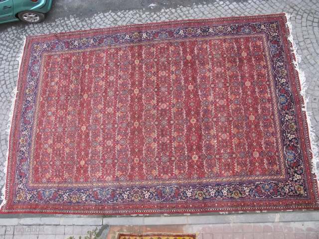 Tabriz wonderful colors and excellent condition all ower design original size 5,60x3,80 cm Circa 1900-1910