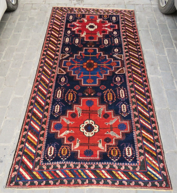 Caucassian Khila shirvan carpet all original , very nice colors and excellent condition size 2,98x1,55 cm Circa 1900 to 1910