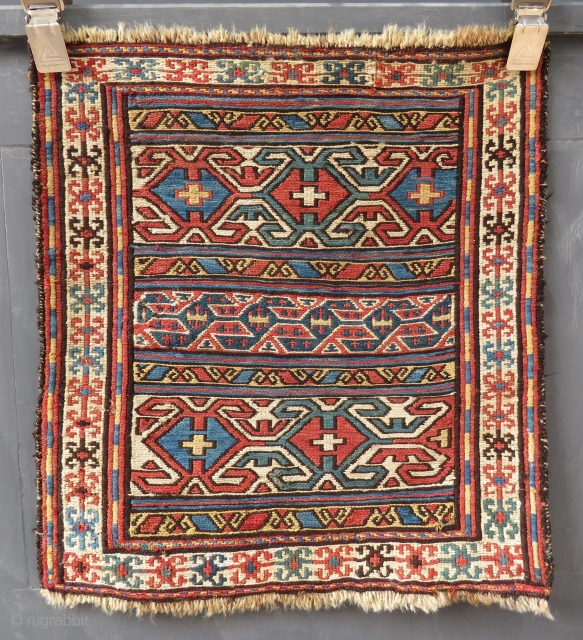 Gorgia Sumak bag face wonderful colors and very nice condition all original Circa 1900