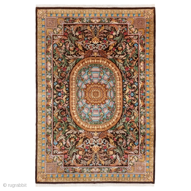 French Aubusson Style Rug from Romania, Early 20th century, Very good condition and colors, Not restored, Size: 440 x 300 cm. ( 173.2 x 118.1 inch ), http://www.sadeghmemarian.com/pages/details/rugs/A0110A.html  www.sadeghmemarian.com