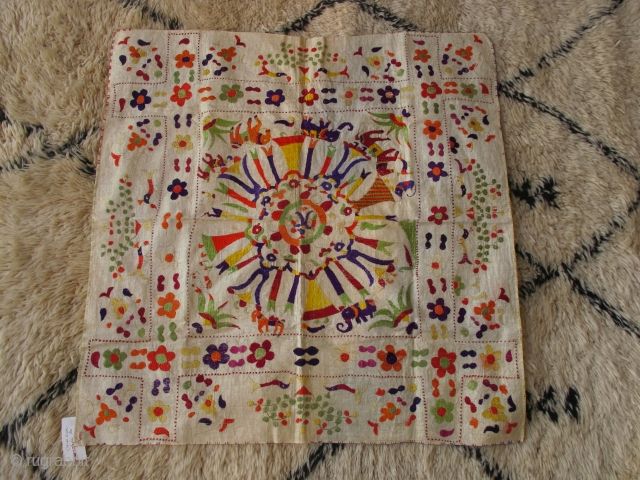 Lovely chamba rumal in good condition. 75x75cm.