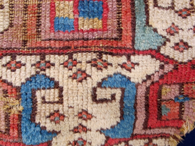 Rare anatolian fragment around 1800. Mounted on fabric. ca. 70x35cm.