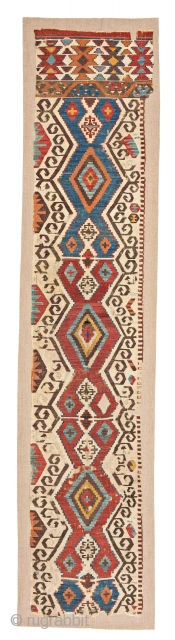 Central Anatolian Aksaray Kilim Half Fragment