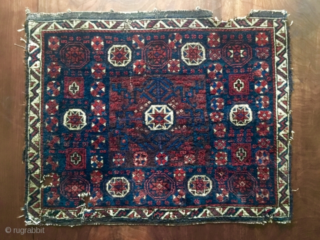 Timuri Baluch star in octagon. 'Baluchi Mac BagFace' Early, soft, peppered back and new to the market. One of a pair.