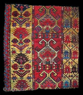 Ersari border fragment from main carpet mid 19th century.
