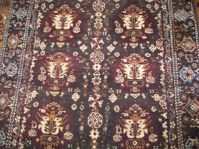19th century Agra carpet needs repair measuring 12 x 6 ft.