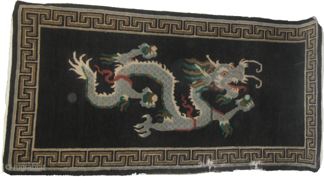 Old Dragon carpet size 3 x 6ft needs repair on one of border side.