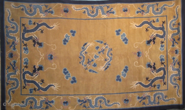 Chinese rug in mint condition measuring 243 x 152 cm.