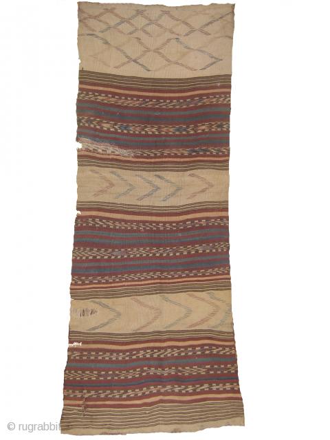 antique kilim, needs repair 2.1ft x 5.10ft