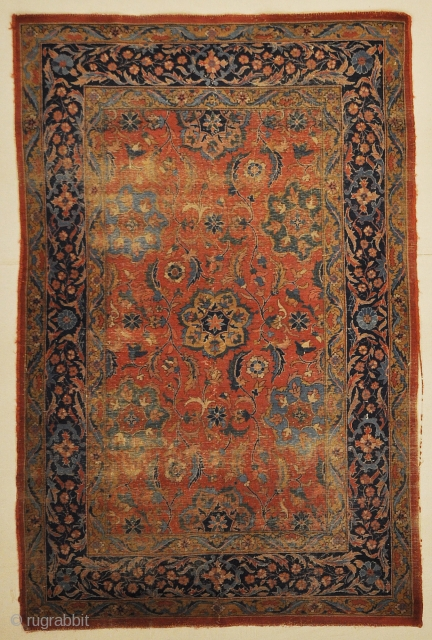 Antique Indian Mughal Classical Rug Genuine Woven Carpet Art Intricate Authentic Rugs and More Santa Barbara Design Center