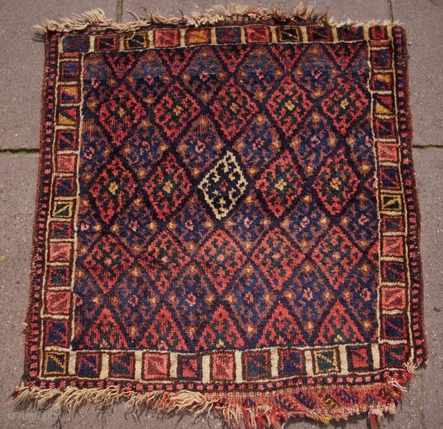 Kurdish bagface, 65 x 68 cm, unusual border
