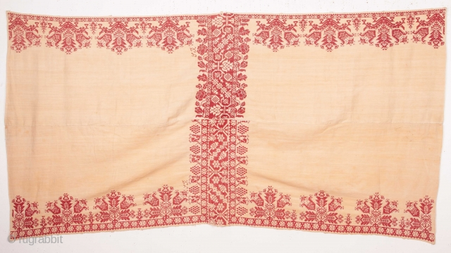 Greek Embroidery from Cyprus? 19th C. 94 x 190 cm / 37.01 x 74.8 in.