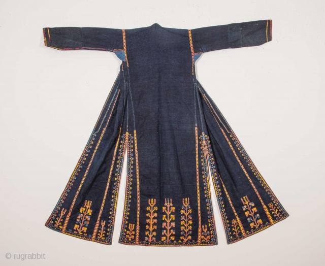 Syrian Indigo Dress Early 20th C.