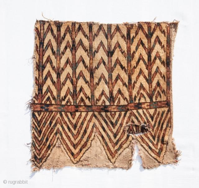 Turkmen Yomud Okbash Fragment 47 x 49 cm / 1'6'' x 1'7''