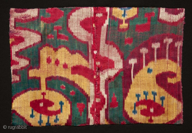 Uzbek Velvet Fragment  32 x 22 cm                         