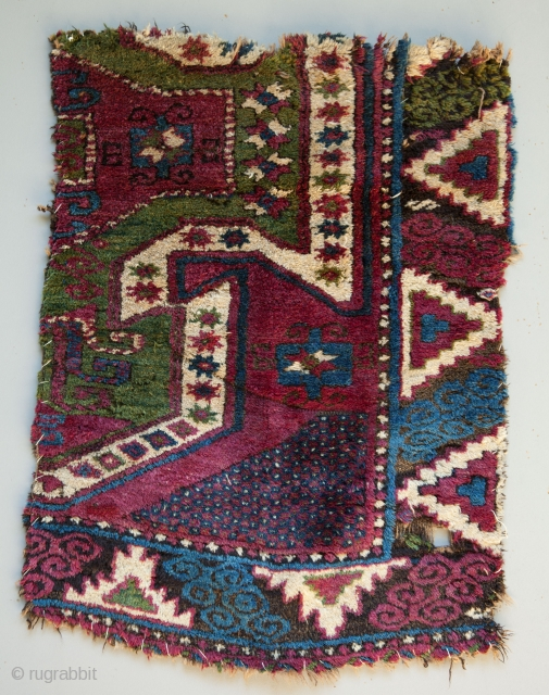 Eastern Anatolian Rug Fragment  91 x 66 cm                        