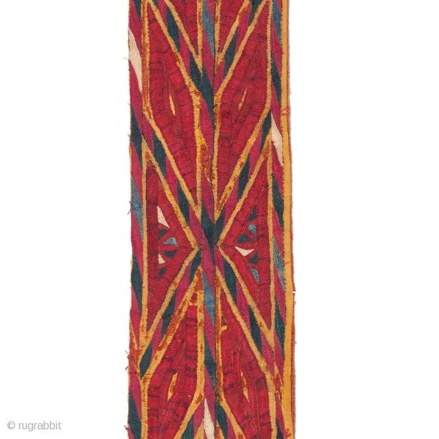 Turkmen Tekke Yellow Chyrpy Collar 9 x 137 cm / 3.54 x 53.94 inches