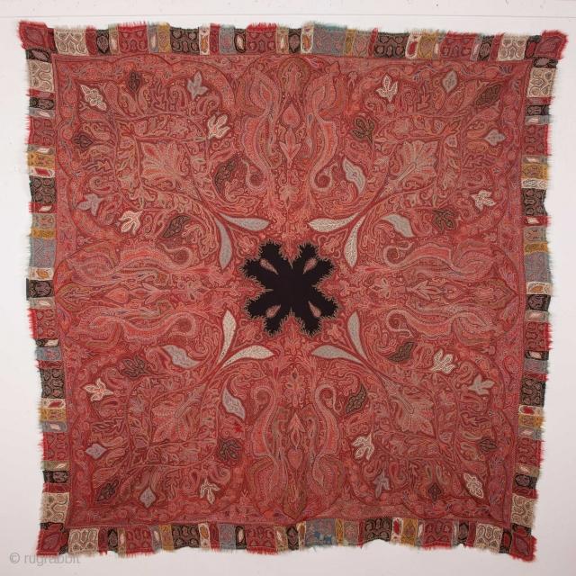 Indian Shawl , Damaged but still nice 192 x 192 cm / 6'3'' x 6'3''