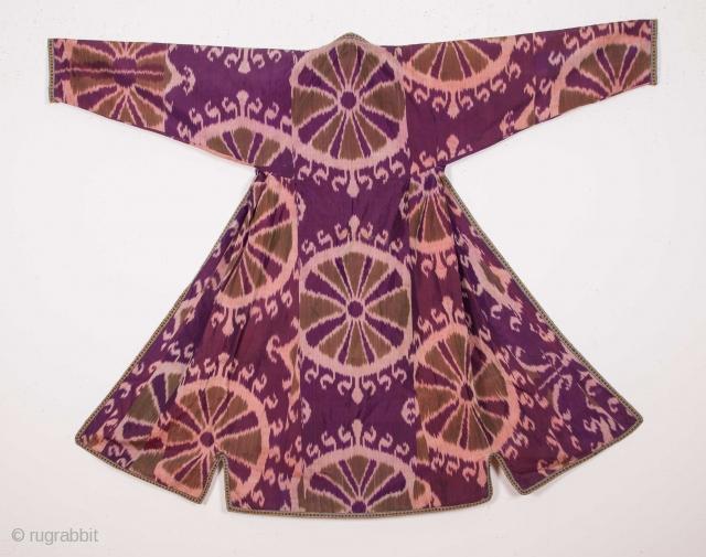 Uzbek Pure silk Ikat Chapan