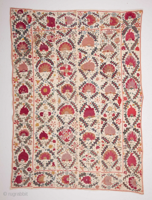 Central Asian Uzbek Suzani 154 x 212 cm / 5'0'' x 6'11''