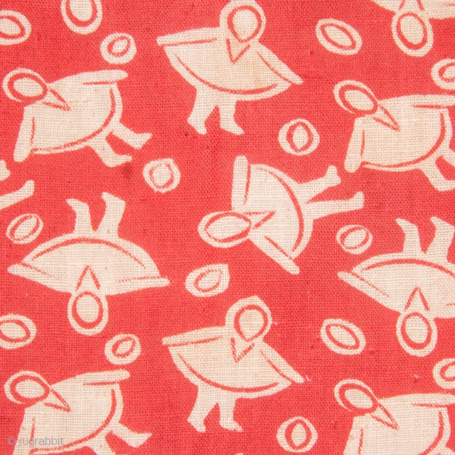 Early 20th C. Russian Roller Printed Cotton Cloth 136 x 250 cm