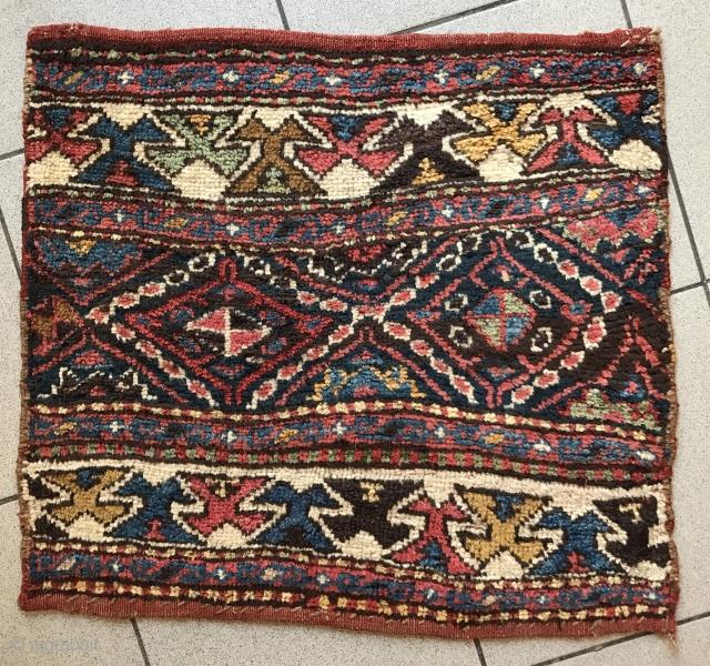 Shahsavan mafrash side with beautiful natural colors, 59x53cm