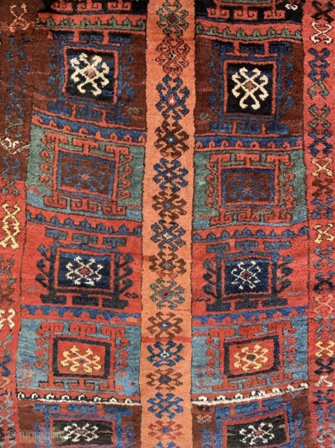 Detail of a rare East Anatolian Kurdish rug.
