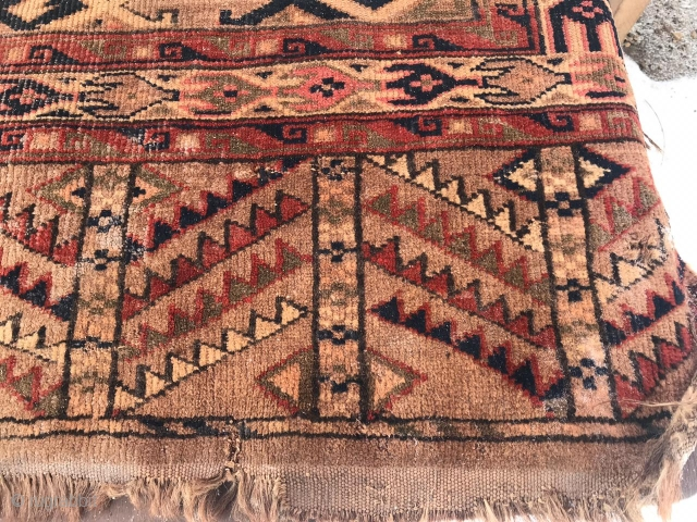 Turkmen-yomud, 1890-1900, size-120X260 cm.requires restoration, need to wash