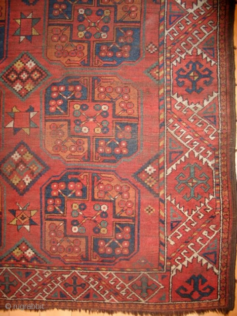 Ersari Main Carpet with interesting patch