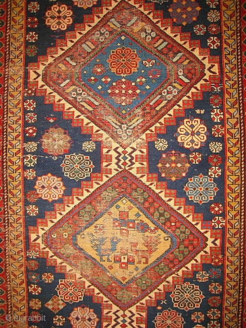 A Long Shirvan Type Rug, some tears