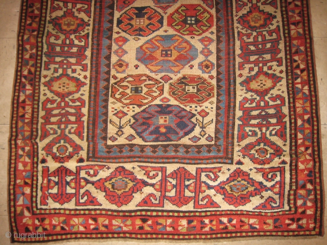 A Caucasian Long Rug with Kufesque Border