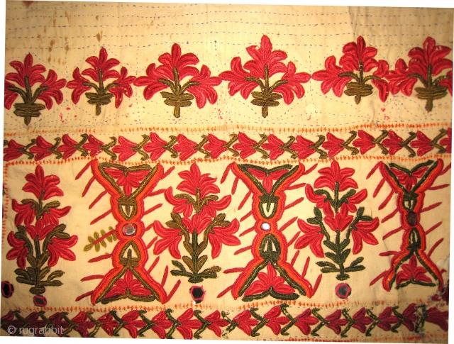 An Old Banjara (?)Textile  Panel