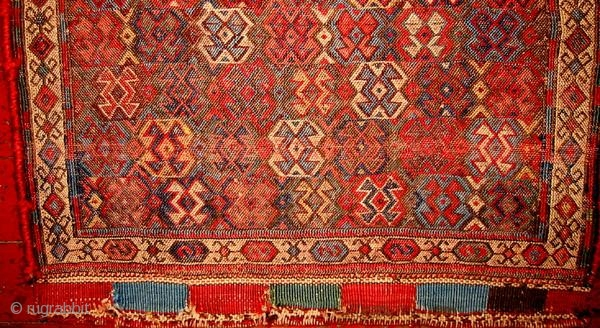 Unusual & Intriguing Kurdish Flatweave bagface