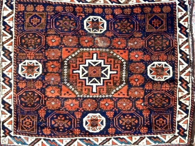 Large Baluch bagface with memling in Octagon, floppy