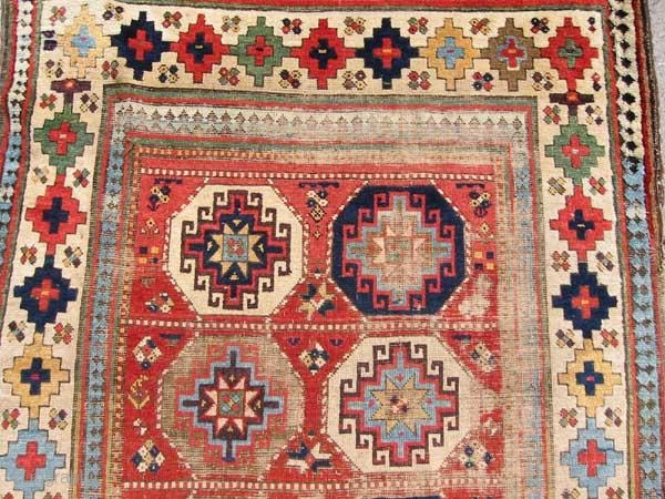 Old Moghan Rug with Memling Guls