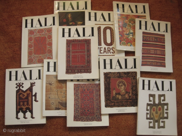 Books: Hali issues for 8 Euro each ….