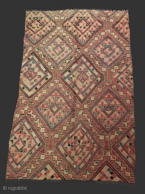 Unusual fine moroccan rug Marmoucha..Origin: Marmoucha tribe (Middle-Atlas) / Morocco..Mid XXth..Size: 9'8 x 5'9 (300 x 180 cm)..wool