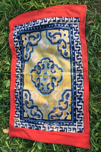 early 18th century 1722-1760  china ningxia monastery rug 104 cm x 64 cm