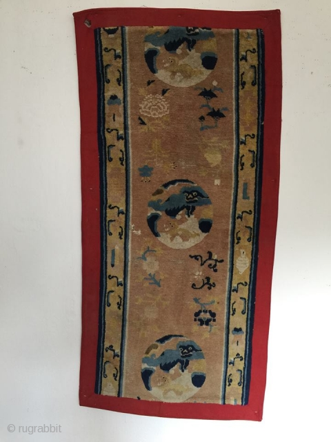 18th century Ningxia monastery runner 168 cm x 68 cm